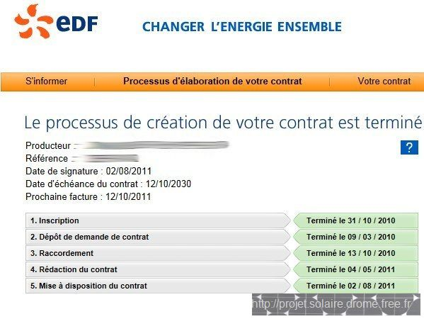 Pages Demarches EDF AOA contrat photovoltaique Sage